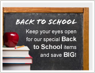 Gardez les yeux grand ouverts pour nos offres de rentrée et économisez un MAX !